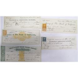 Five Different Gould & Curry Mining Checks incl. Two Territorial