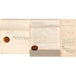 Indenture between the Pacific Mill and the Consolidated California and Virginia Mine - With rare ful