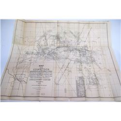 Map of the Comstock & Brunswick Lodes
