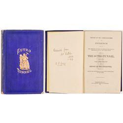 Sutro Tunnel 1872 Book