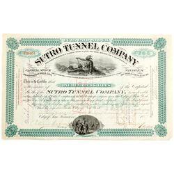 Sutro Tunnel Company Stock Certificate