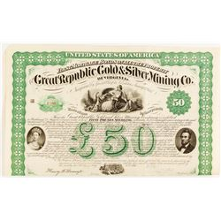Great Republic Gold & Silver Mining Co. Of Virginia Bond