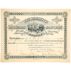 Mammoth Cons. Mining, Milling, & Smelting Co. Stock Certificate