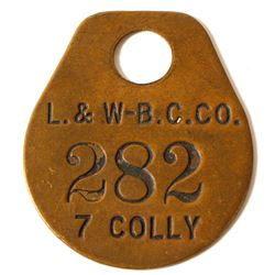 Lackawanna & Wilkes Barre Coal Co. Metal Tag