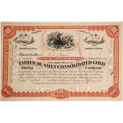 Father De Smet Consolidated Gold Mining Company Stock