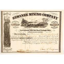 Sewanee Mining Company Stock Certificate