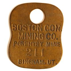Boston Con. Mining Co. Brass Equipment Tag