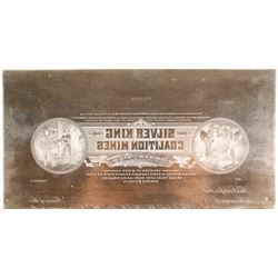 Silver King Coalition Mines Printers Plate