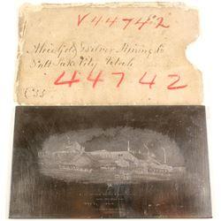 Alice Gold & Silver Mining Company Printers Plate