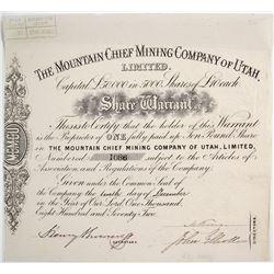 Mountain Chief Mining Co. Of Utah Warrant