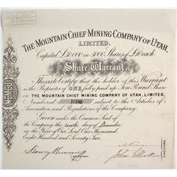Mountain Chief Mining Co. Of Utah Warrant