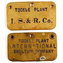 International Smelting Brass Employee Tags (2)