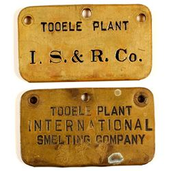International Smelting Brass Employee Tags (2)