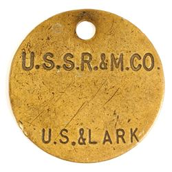 US Smelting & Refining Brass Equipment Tag