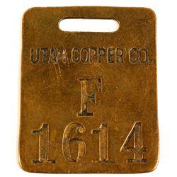 Utah Copper Co. Brass Equipement Tag