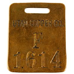 Utah Copper Co. Brass Equipement Tag