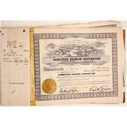 Homestead Uranium Corporation Ledger Folio