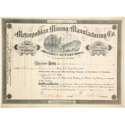 Metropolitan Mining & Manufacturing Co. Stock Certificate