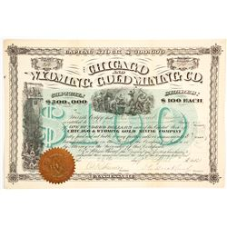 Chicago & Wyoming Gold Mining Co. Stock Certificate