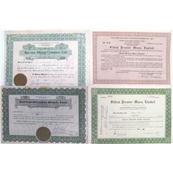 British Columbia / Alaska Border Mining Stock Certificates