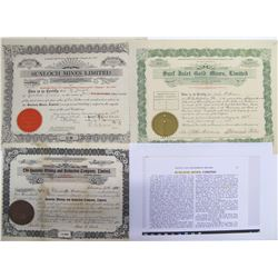 British Columbia Coast Islands Mining Stock Certificates