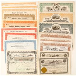 British Columbia Mining Stock Certificate Collection