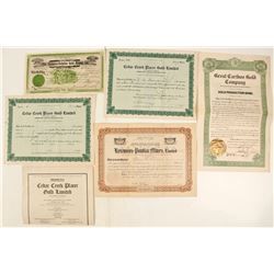Cariboo Mining District Stock Certificates, British Columbia