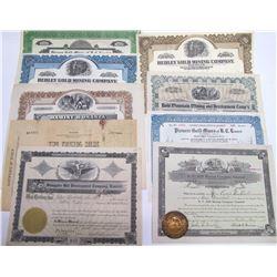 Central British Columbia Mining Stock Certificates