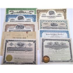 Central British Columbia Mining Stock Certificates
