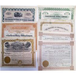 Kootenay District Mining Stock Certificates, BC