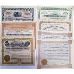 Kootenay District Mining Stock Certificates, BC