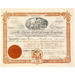 Hattie Brown Gold Mining Co. Stock Certificate, Trail Creek, B.C.