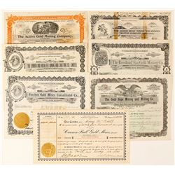 Rossland, British Columbia Mining Stock Certificates