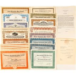 Yellowknife Mining Stock Certificate Collection, NWT