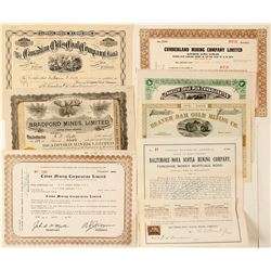 Nova Scotia Mining Stock Certificate & Bond Group