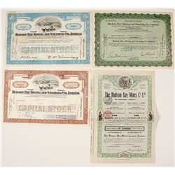 Hudson Bay Mining Stock Certificates