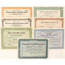 Kirkland Lake Mining Stock Certificate Collection, Ontario