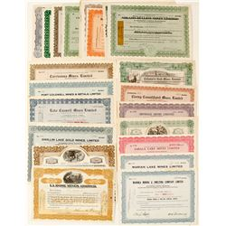Ontario Mining Stock Certificate Collection
