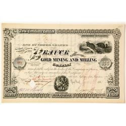 Beauce Gold Mining & Milling Co. Stock Certificate