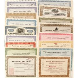 Quebec Mining Stock Certificate Collection