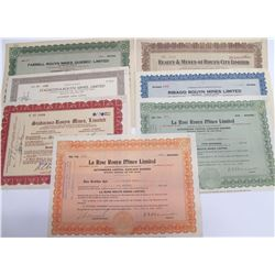 Rouyn Mining Stock Certificates, Quebec