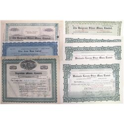 Canadian Silver Mining Stock Certificates