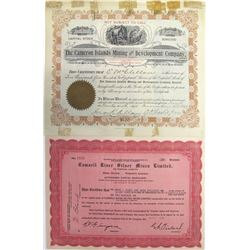 Two Far North Canadian Mining Stock Certificates
