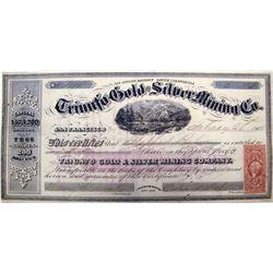 Triunfo Gold & Silver Mining Co. Stock Certificate, Lower California, 1865