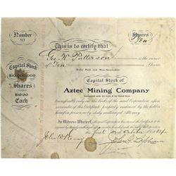 Aztec Mining Co. Stock