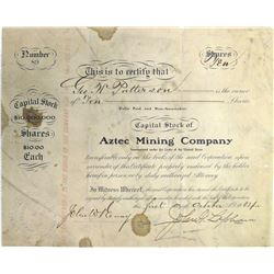 Aztec Mining Co. Stock