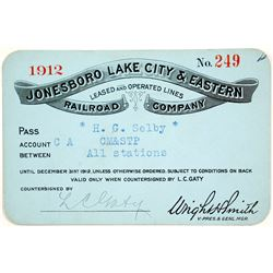 Jonesboro, Lake City & Eastern Railroad Pass