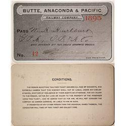 Butte, Anaconda & Pacific Railway Pass