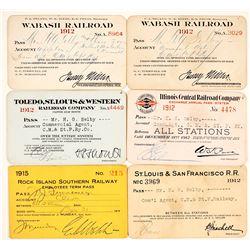 Six Railroad Passes