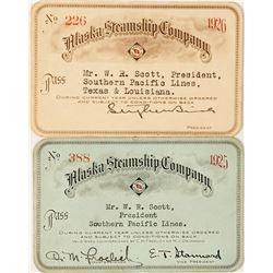 Alaska Steamship Company Annual Passes: 1925 & 1926